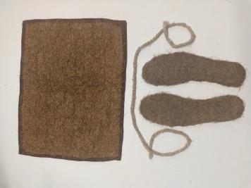 Oak rug for a cat, nettle plait and aspen insoles